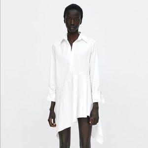 NWT Zara Poplin Shirt Dress